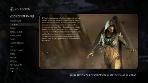 D´Vorah traje normal 1 mortal kombat x criticsight
