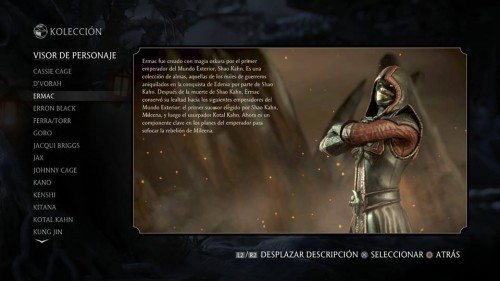 Ermac traje 1 normal mortal kombat x criticsight