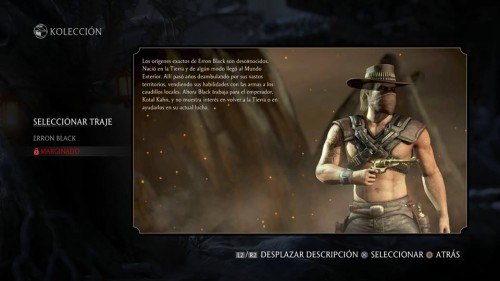 Erron Black marginado traje 2 mortal kombat x criticsight