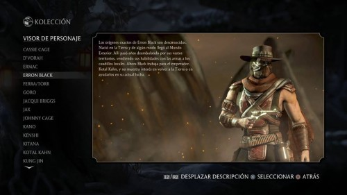 Erron Black traje 1 normal mortal kombat x criticsight