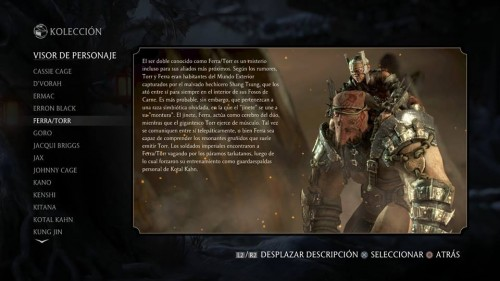 FerraTorr traje 1 normal mortal kombat x criticsight