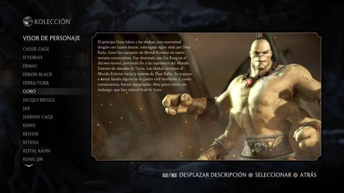 Goro traje normal 1 mortal kombat x criticsight
