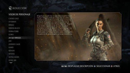Jacqui Briggs traje 1 normal mortal kombat x criticsight