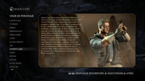 Johnny Cage traje 1 normal mortal kombat x criticsight