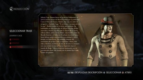 Johnny Cage traje 4 mimo mortal kombat x criticsight