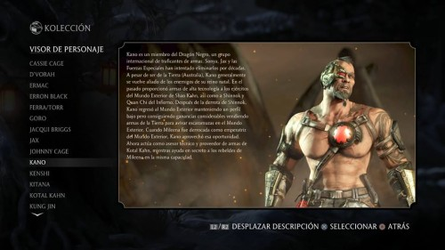 Kano traje 1 normal mortal kombat x criticsight