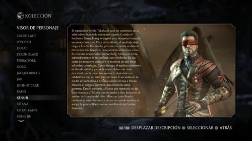 Kenshi traje 1 normal mortal kombat x criticsight