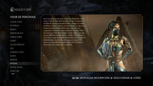 Kitana traje 1 normal mortal kombat x criticsight