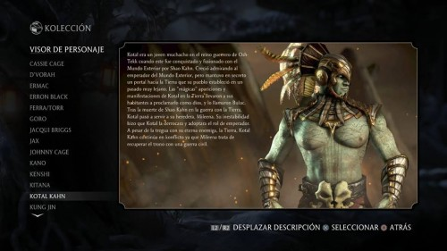 Kotal Kahn traje 1 normal mortal kombat x criticsight