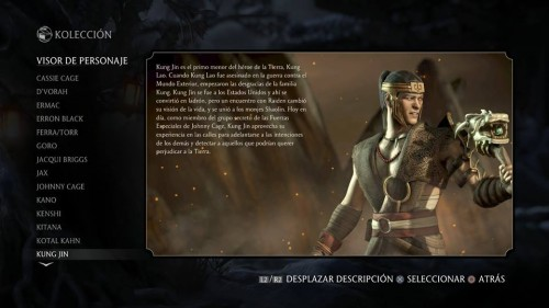 Kung Jin traje 1 normal mortal kombat x criticsight
