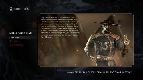 Kung Lao traje 1 normal mortal kombat x criticsight