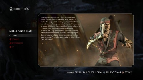 Liu Kang traje 1 normal mortal kombat x criticsight