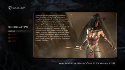 Mileena traje 1 normal mortal kombat x criticsight