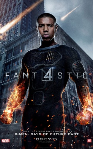 Nuevos Posters Individuales y Banner de Fantastic Four (2015) criticsight human torch antorcha humana