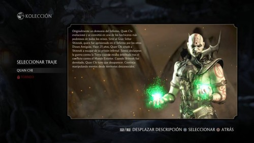 Quan Chi traje 1 normal mortal kombat x criticsight