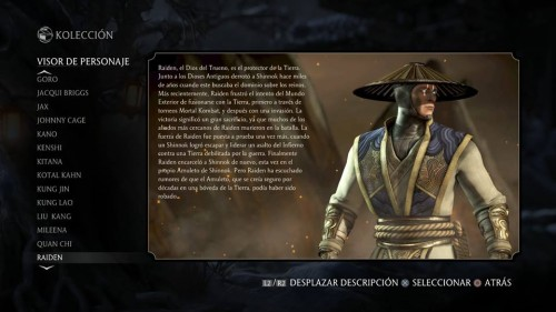 Raiden traje 1 normal mortal kombat x criticsight