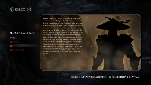 Raiden traje 3 dark mortal kombat x criticsight