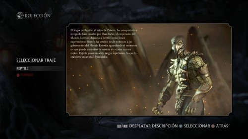 Reptile traje 1 normal mortal kombat x criticsight