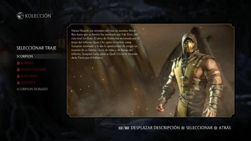 Scorpion traje 1 normal mortal kombat x criticsight