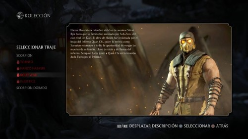 Scorpion traje 4 kold war mortal kombat x criticsight