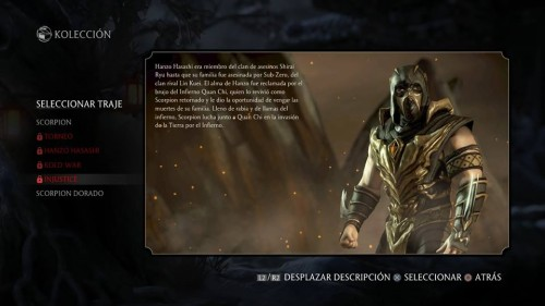 Scorpion traje 5 injustice mortal kombat x criticsight