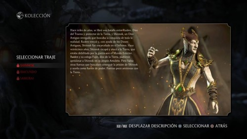 Shinnok traje 1 normal mortal kombat x criticsight