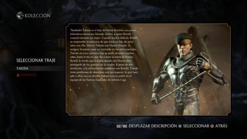 Takeda traje 1 normal mortal kombat x criticsight