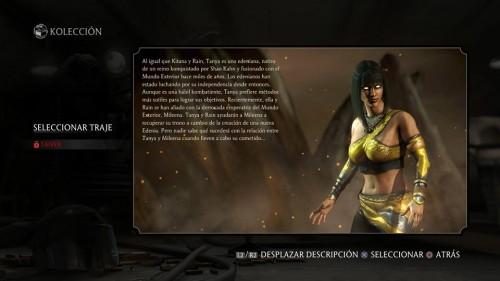Tanya traje normal mortal kombat x criticsight