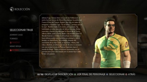 johnny cage mortal kombat x traje alterno futbol criticsight