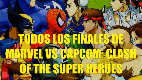 Todos los finales de Marvel vs Capcom portada video