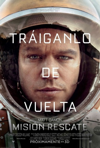 mision rescate the martian poster teaser latino mexico 2015 criticsight