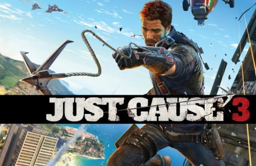 just cause 3 logo wall criticsight 2015