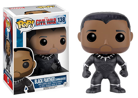 Funko Pop Civil War criticsight imagen black panther sin mascara