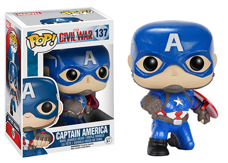 Funko Pop Civil War criticsight imagen capitan america pose variante