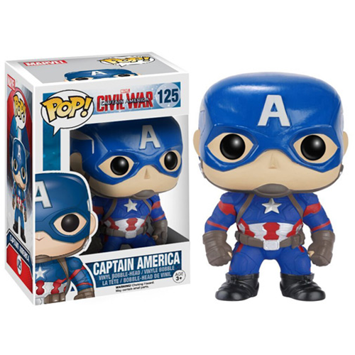 Funko Pop Civil War criticsight imagen capitan america