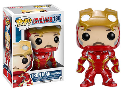 Funko Pop Civil War criticsight imagen iron man tony stark