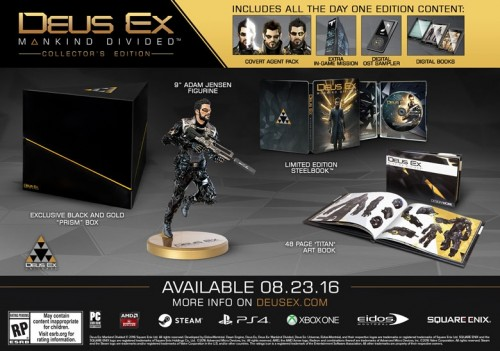 DEUS EX Mankind Divided collectors edition 2016 criticsight