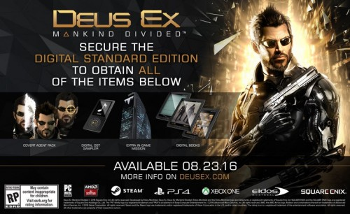 DEUS EX Mankind Divided standard edition criticsight 2016