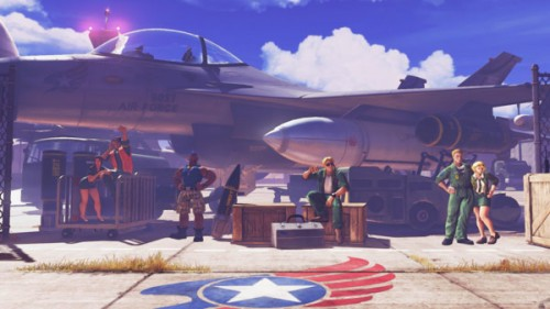 Guile Street Fighter V criticsight imágenes  stage escenario