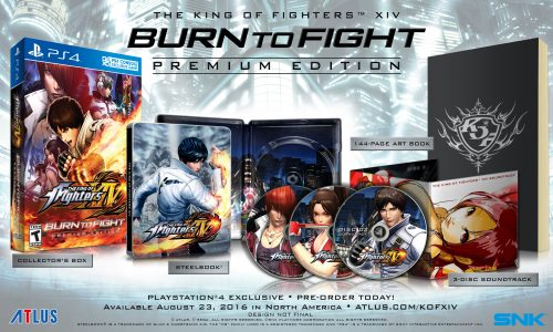 KOF XIV EDICION DE COLECCION LIMITADA BURN TO FIGHT CRITICSIGHT ATLUS 2016