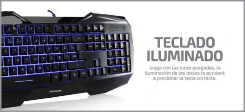 kit gamer acteck teclado 2016 criticsight escuadron gamer