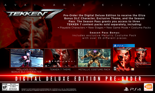 Tekken 7 Consolas PS4 XBOX One PC Criticsight 2017 Imagen bonus version digital deluxe ps4