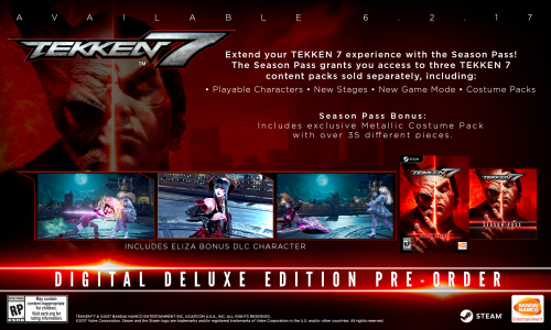 Tekken 7 Consolas PS4 XBOX One PC Criticsight 2017 Imagen digital deluxe pc