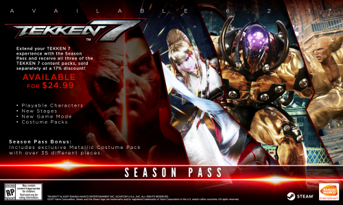 Tekken 7 Consolas PS4 XBOX One PC Criticsight 2017 Imagen season pass pc steam