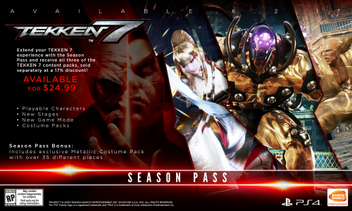 Tekken 7 Consolas PS4 XBOX One PC Criticsight 2017 Imagen season pass ps4