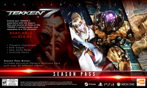 Tekken 7 Consolas PS4 XBOX One PC Criticsight 2017 Imagen season pass todas las plataformas
