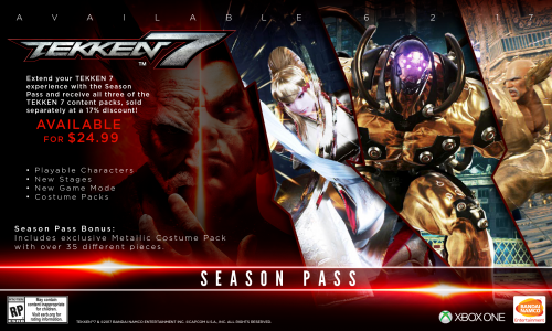 Tekken 7 Consolas PS4 XBOX One PC Criticsight 2017 Imagen season pass xbox one