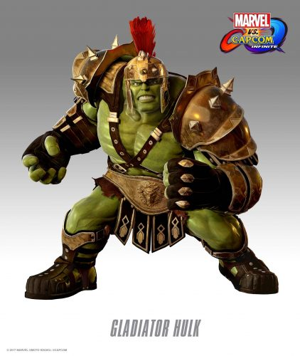 Marvel vs Capcom Infinite 2017 criticsight imagen Traje DLC Gladiator Hulk HD
